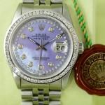 Rolex Datejust Perlmutt Violett mit Jubilee Arband