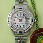 Rolex Lady Datejust Spaphir Diamant Perlmutt Zifferblatt pink