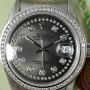 die Rolex Datejust mit Diamantenzifferblatt in Silber