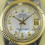 Rolex Datejust Perlmuttzifferblatt mit Gold und Diamanten